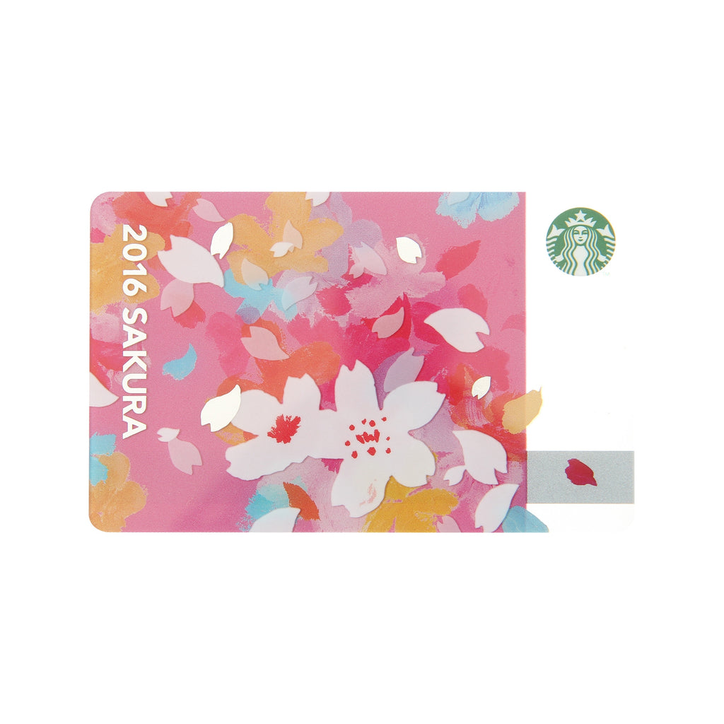 Starbucks Japan SAKURA 2016 Cheery Gift Card w/ sleeve