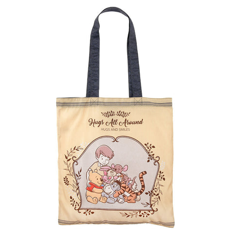 Winnie the Pooh & Friends Shopping Eco Tote Bag Hug & Smile Disney Store Japan