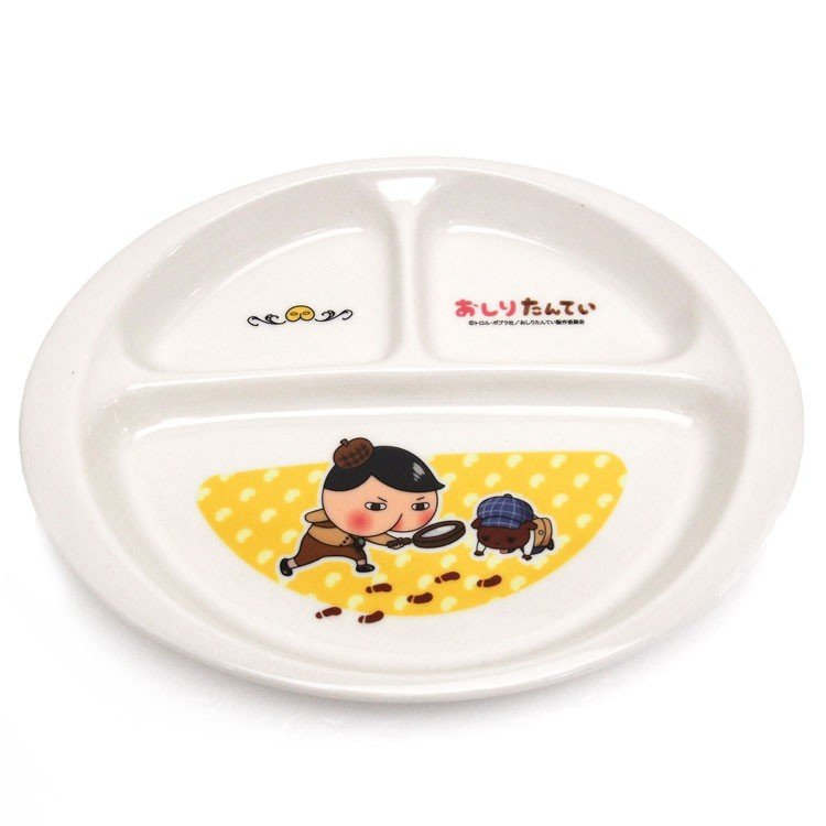 Oshiritantei Butt Detective Ceramic Lunch Plate Japan