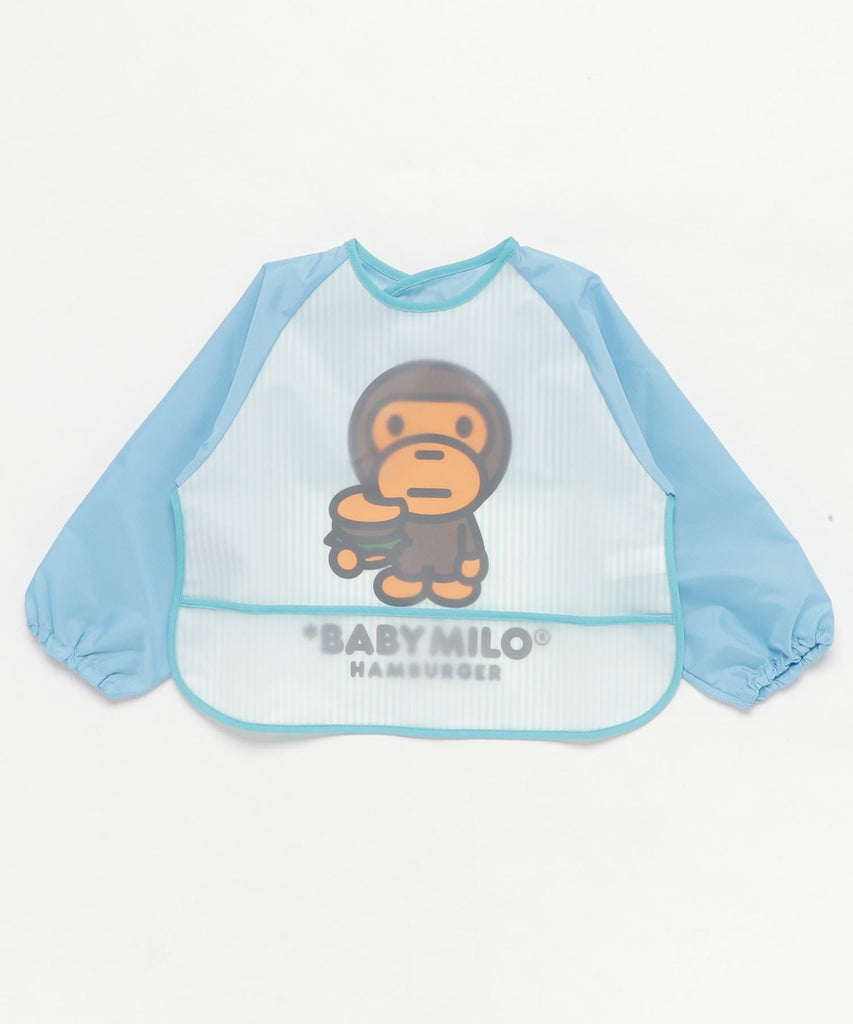STRIPE BABY MILO FOOD SMOCK KB Sax Blue A BATHING APE Japan Kids