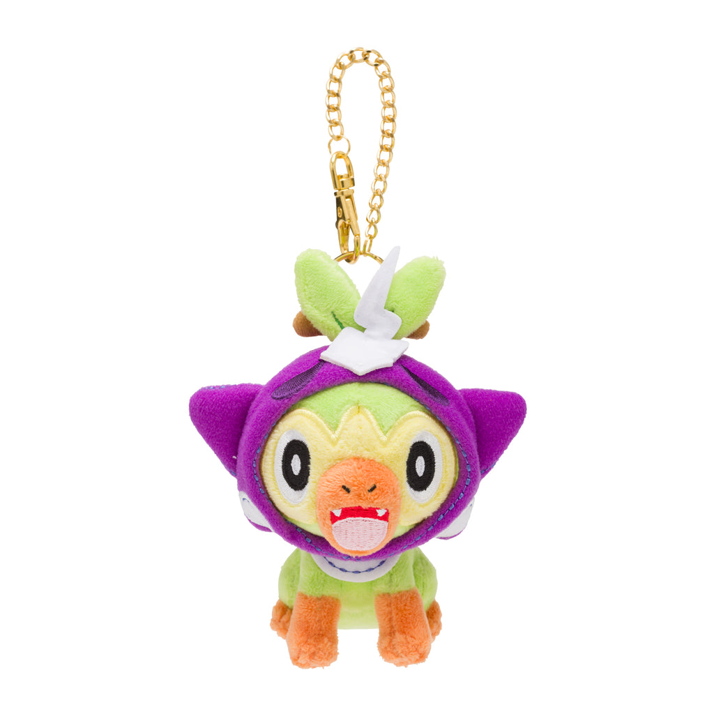 Grookey Sarunori Plush Keychain Halloween Galar Garden Pokemon Center 2020 Japan