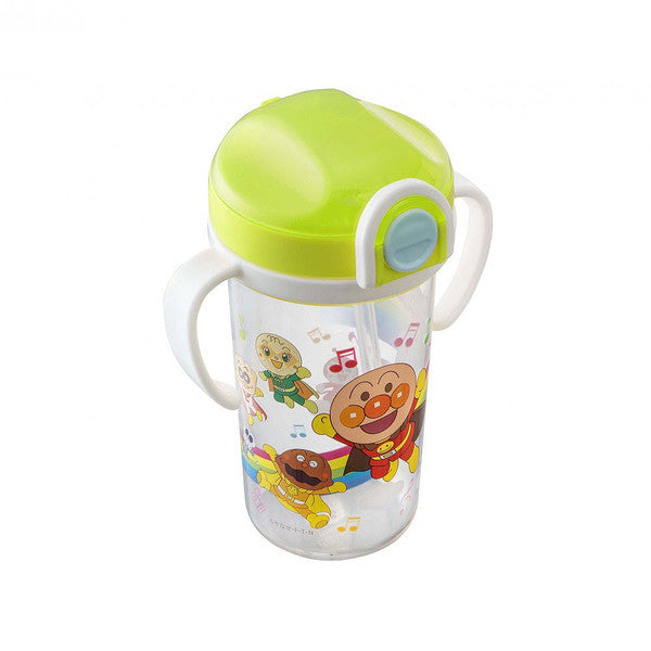 Anpanman Baby Clear Straw Mug Cup 300ml Japan Kids KK-307