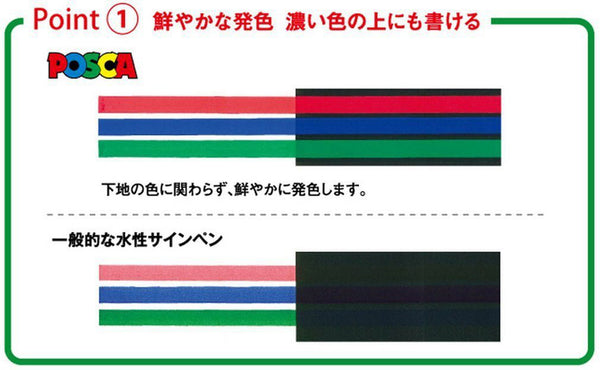 Uni POSCA Colour Markers PC1M12C 0.7mm extra-fine 12 Color Mitsubishi Japan