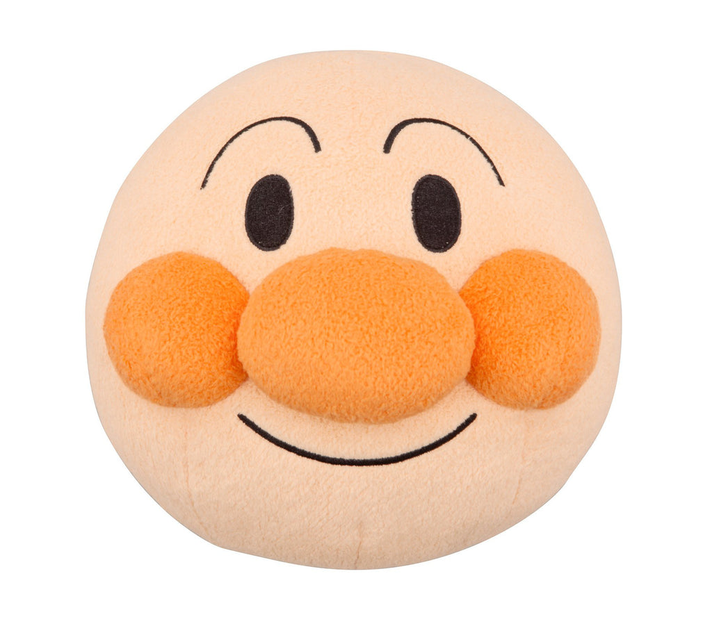 Anpanman Plush Doll BIG Fluffy Face Japan