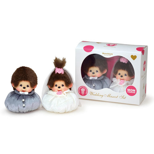 Monchhichi Mascot Doll Couture Wedding Set Japan with Box
