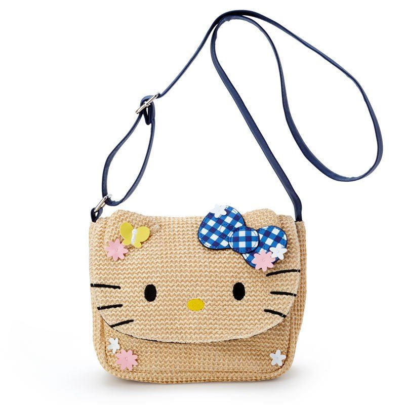 Hello Kitty Kids Shoulder Bag Basket Style Sanrio Japan