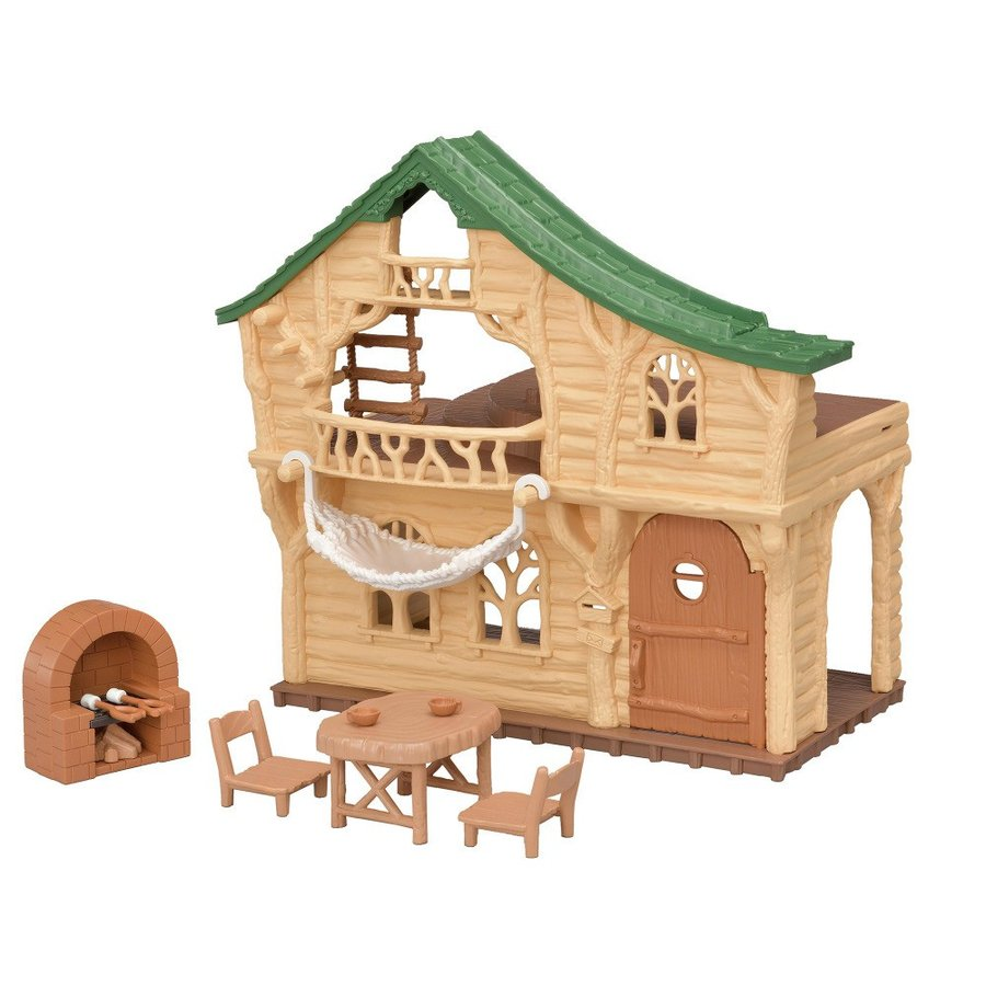 Forest Log Cabin House Wakuwaku Ko-62 Sylvanian Families EPOCH Japan
