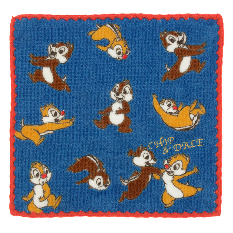 Chip & Dale mini Towel Gold Name Disney Store Japan