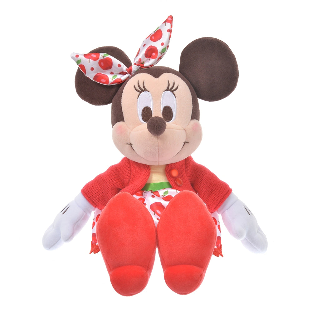 Minnie Plush Doll Apple Ringo Zakka Disney Store Japan