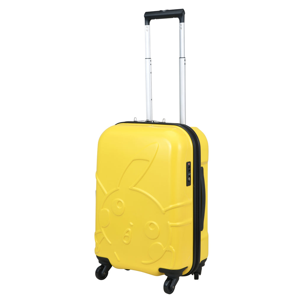 Pikachu Carry Case Suitcase Face Yellow Pokemon Center Japan Original