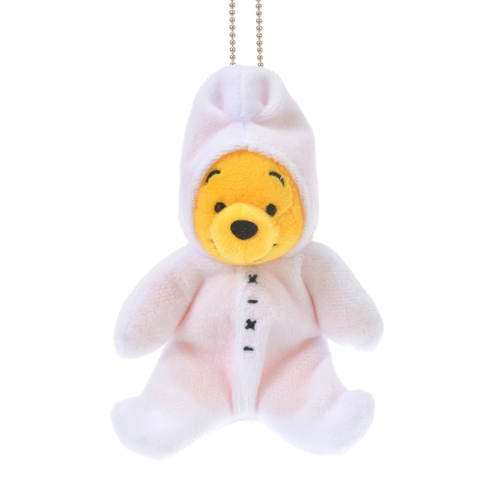Winnie the Pooh Plush Keychain Sitting The Wishing Bear Disney Store Japan