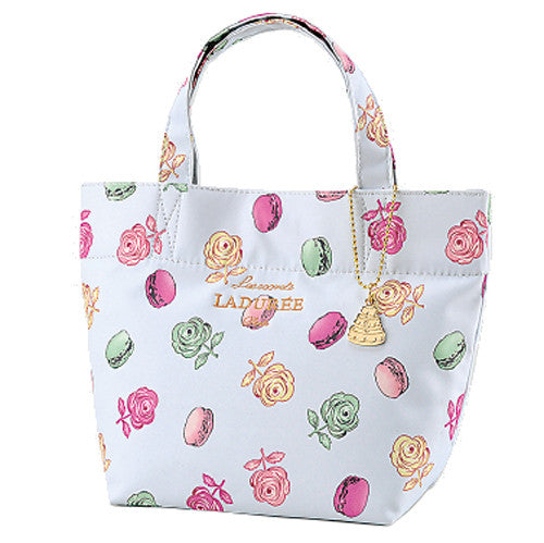 Laduree Japan Tote Bag S Roses et macarons Gray