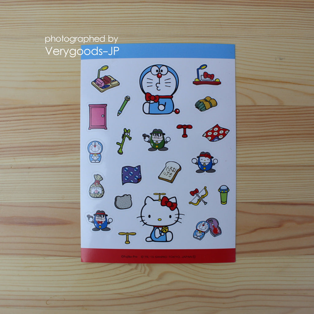 Doraemon x Hello Kitty Sticker Tool Sanrio Japan