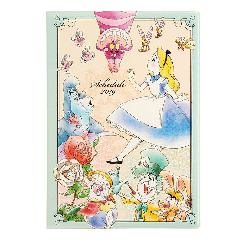 Alice in Wonderland 2019 Schedule Planner Book B6 Weekly Disney Store Japan