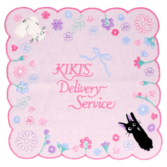 Kiki's Delivery Service Jiji mini Towel Flower Lane Studio Ghibli Japan