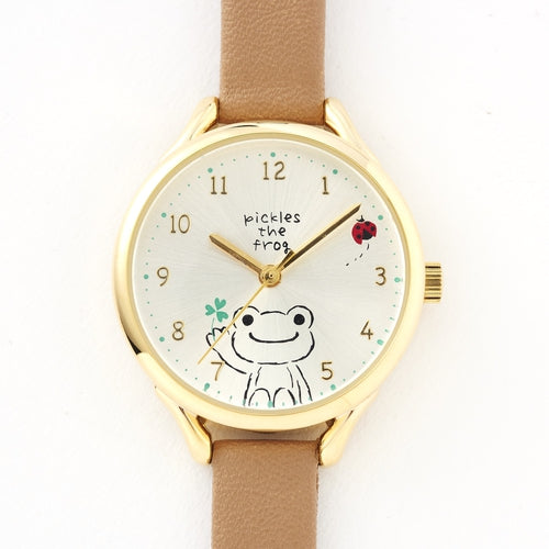 Pickles the Frog Watch Brown Japan
