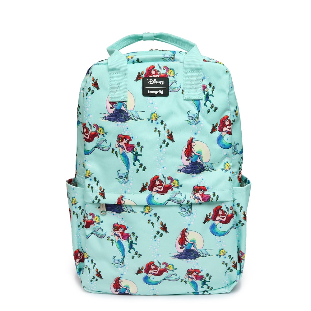 Little Mermaid Ariel Flounder Backpack Pattern Loungefly Disney Store Japan
