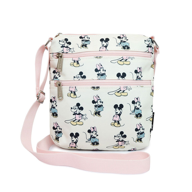 Mickey & Minnie Shoulder Bag Pastel Pink Loungefly Disney Store Japan
