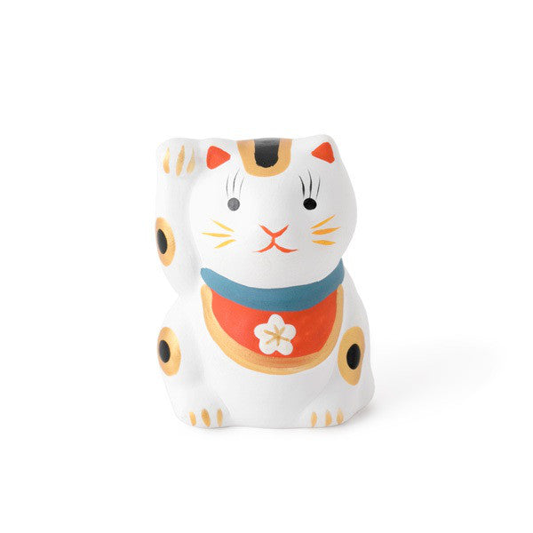 Japan Beckoning Cat Maneki Neko Lucky mini White Right Hand for Money