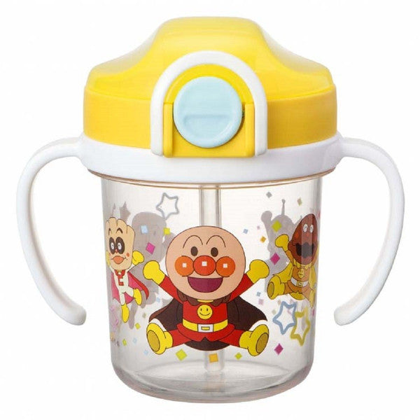 Anpanman Baby Clear Straw Mug Cup 200ml Japan Kids KK-307