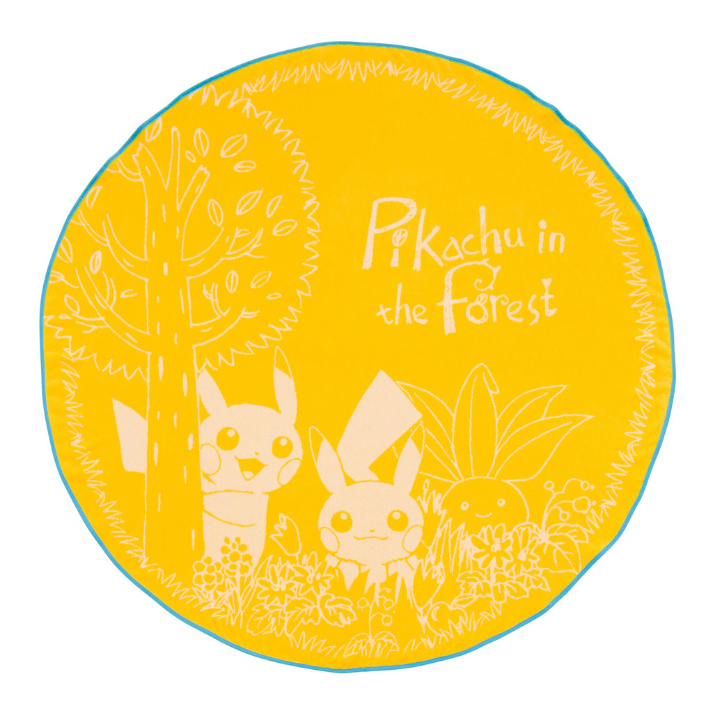 Round Towel Yellow Pikachu in the forest Pokemon Center Japan
