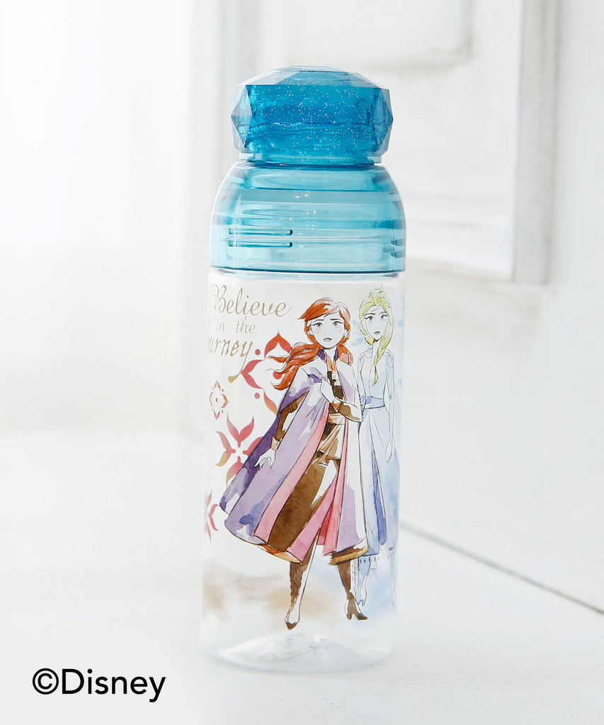 Frozen 2 Anna & Elsa Clear Plastic Bottle Blue Afternoon Tea Disney Japan