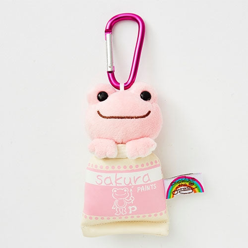 Pickles the Frog Plush Keychain Carabiner Rainbow Color Sakura Japan
