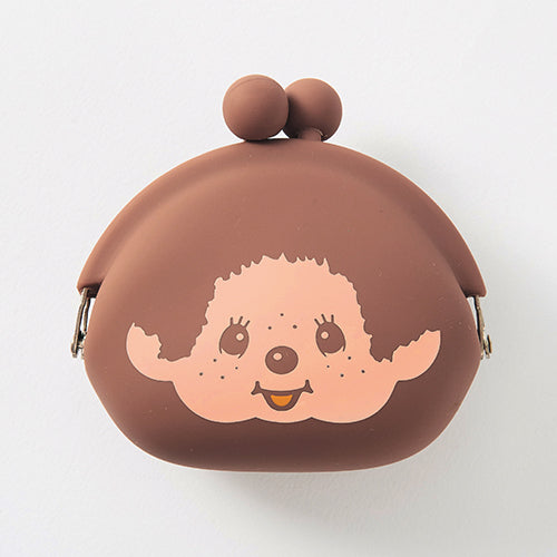Monchhichi Silicone Clasp Pouch Brown Japan