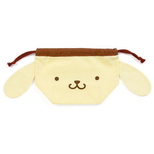 Pom Pom Purin Lunch Box Drawstring Bag Pouch Face Sanrio Japan