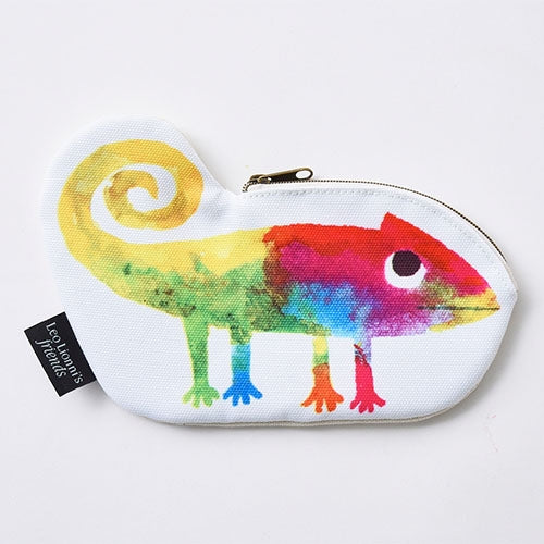 A Color of His Own Chameleon Pen Case Pencil Pouch Die-Cut Leo Lionni Japan