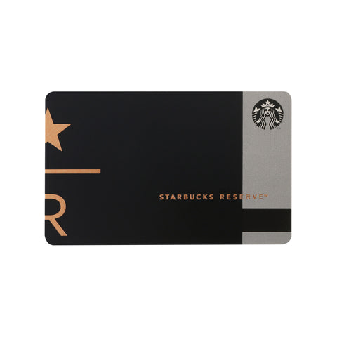 Starbucks Card Reserve Black 2017 Starbucks Japan