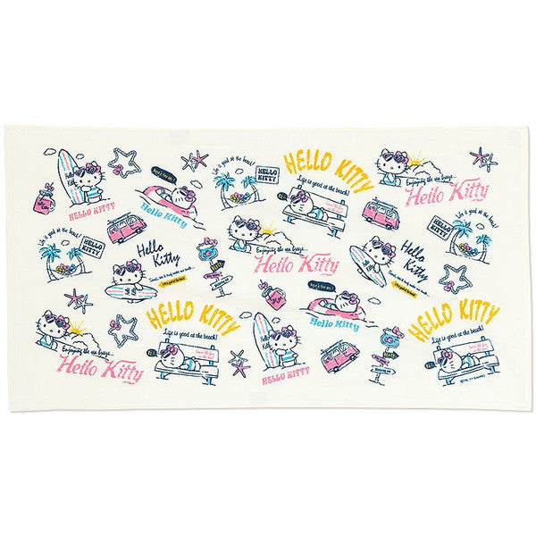 Hello Kitty Big Beach Bath Towel Summer Kitchen Sanrio Japan