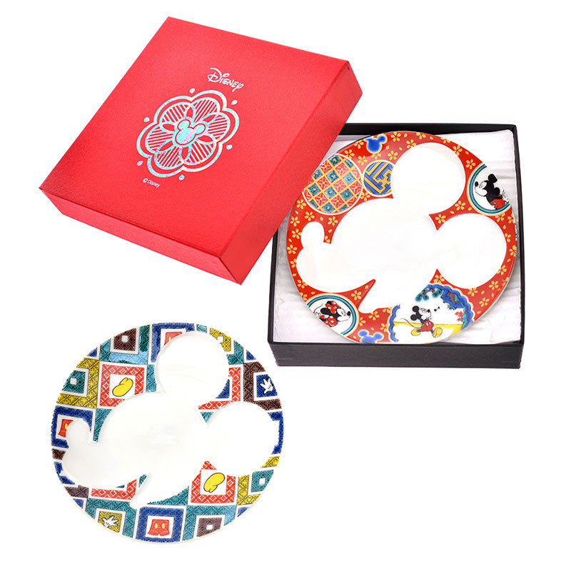 Mickey Kutani ware Plate 2pcs Set B Disney Store Japan