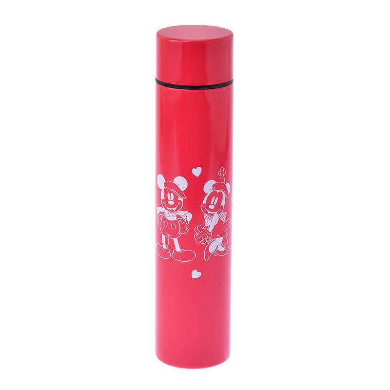 Mickey Minnie Stainless Bottle Lipstick LET'S TRAVEL Red Disney Store Japan
