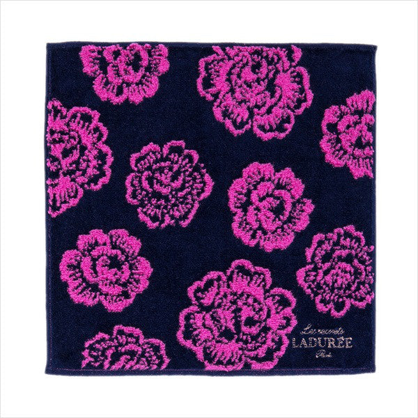 mini Towel Rose Black Laduree Japan