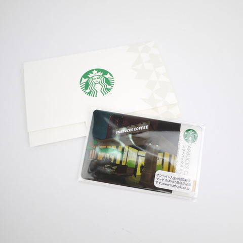 Starbucks Japan 2011 limited Gift Card city lights with sleeve