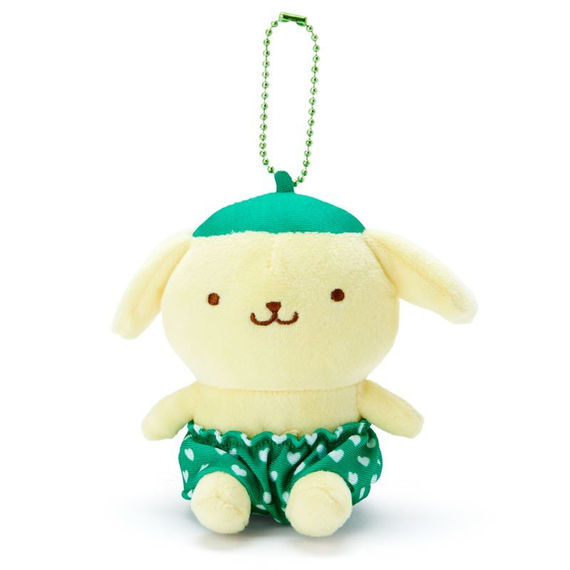 Pom Pom Purin Plush Mascot Holder Keychain Green Recommend Color Sanrio Japan