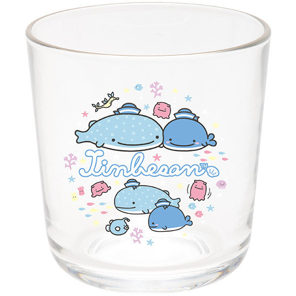 Jinbei San Whale Shark Glass Cup Swimming Deep Sea Friends San-X Japan