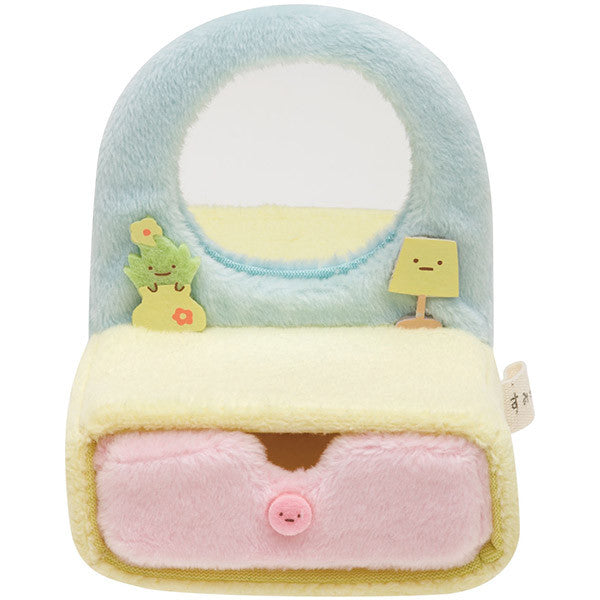 Sumikko Gurashi mini Plush Doll Dresser with mirror San-X Japan