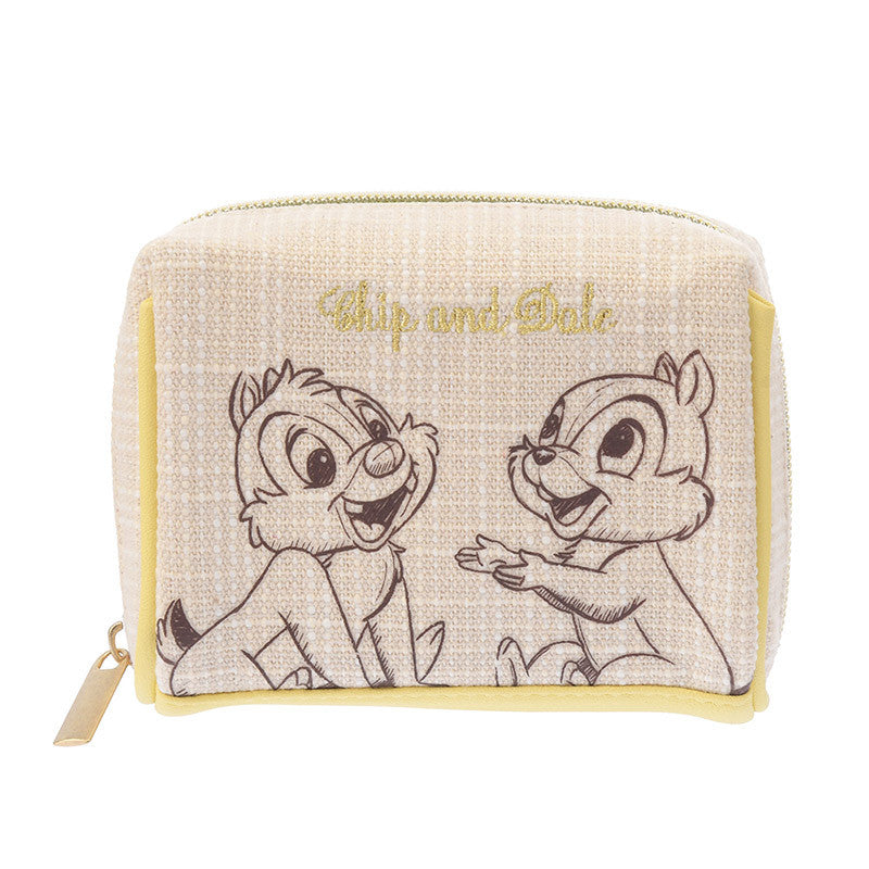 Chip & Dale Pouch Square Natural Disney Store Japan Bloom
