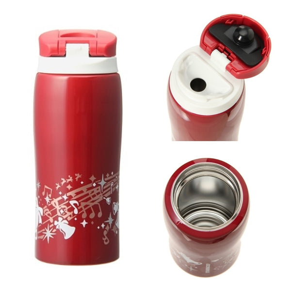 Starbucks Japan Christmas 2014 Stainless Adelie Tumbler Jingle bell Red 12 oz