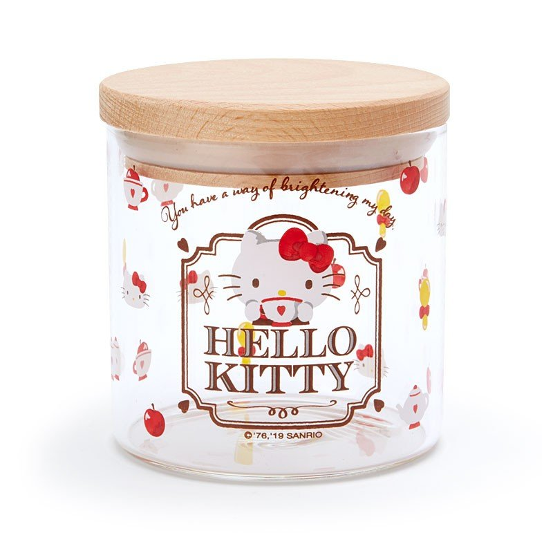 Hello Kitty Glass Canister Winter Tea Time Sanrio Japan