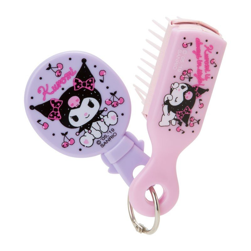Kuromi Hairbrush with mini Mirror Sanrio Japan