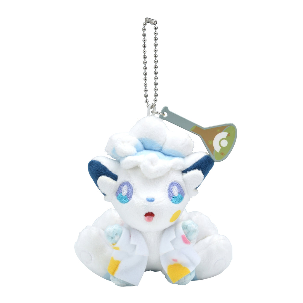 Alolan Vulpix Rokon Plush Keychain Science Man Pokemon Center Japan Original