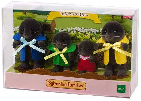 Sylvanian Families Mole Family 1985 EPOCH Japan Pretend Play Doll Set