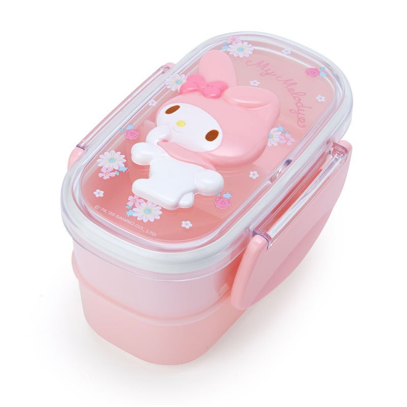 My Melody Lock Lunch Box Bento Relief 2Stage Sanrio Japan 2021