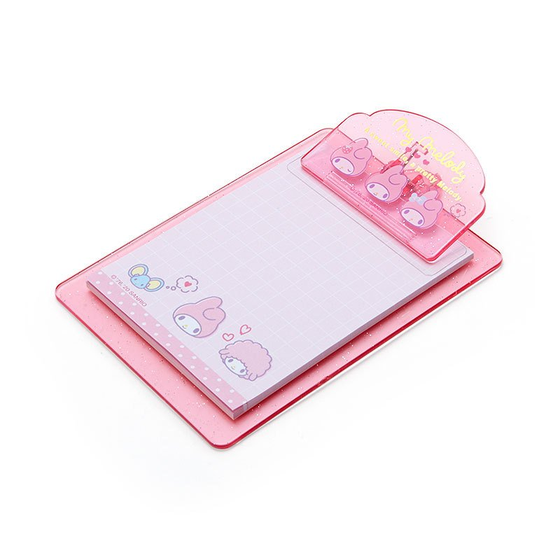 My Melody mini Clipboard & Memo Face Sanrio Japan