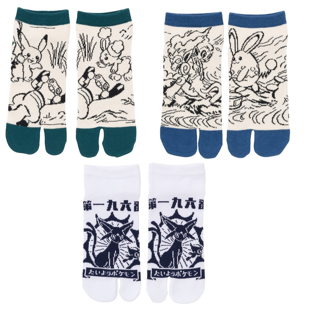 2 Finger socks 3pcs Set Japanese Wa S5 Pokemon Center Japan Original