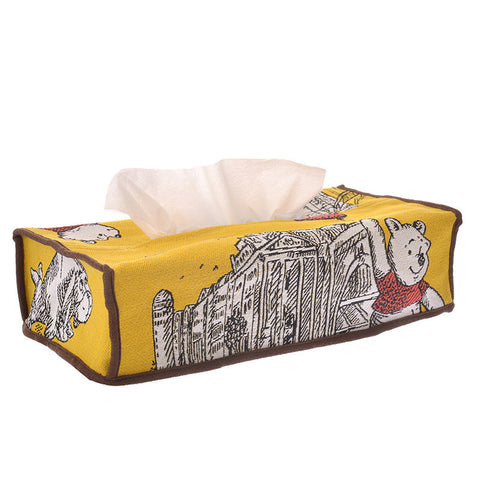 Winnie the Pooh & Friends Tissue Box Cover Christopher Robin Disney Store Japan