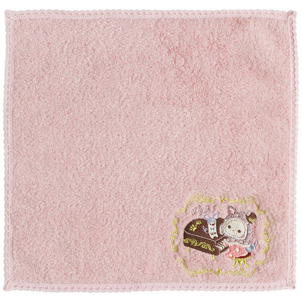 Sentimental Circus mini Towel Black Cat Fantasia Pink San-X Japan